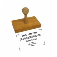 Carimbo de Madeira 5cm²